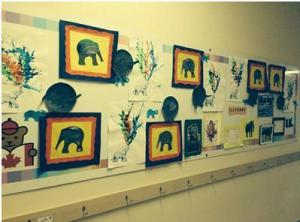 mural elephants